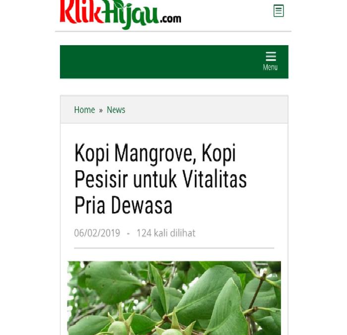 Kopi Mangrove Segara, Kopi Pesisir untuk Obat Kuat Vitalitas Pria Dewasa